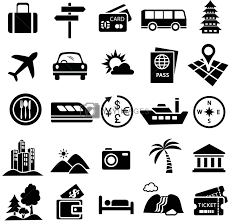 travel icon set royalty free stock