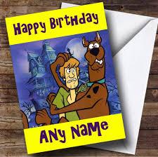 Personalizable Shaggy Y Scooby Doo Tarjeta De Cumpleanos Amazon