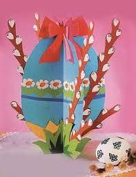 Поделка на Пасху - Яйцо с веточками вербы | Пасхальные поделки ...