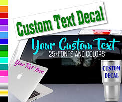 Amazon Com Custom Word Name Decal Sticker For Yeti Rtic Tumbler Cup Laptop Phones And Vehicles Kitchen Dining