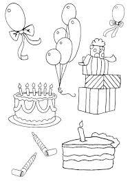 Kleurplaat Verjaardag Verjaardagsslinger Kleurplaten En