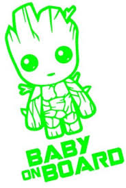 Amazon Com Yingkai Baby On Board Baby Groot Guardians Of The Galaxy Car Decal Vinyl Wall Decal Sticker Vinyl Lettering Removable Decal For Car Laptop Decoration Apple Green Home Kitchen