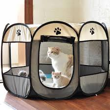 Portable Folding Pet Tent Dog House High Quality Durable Dog Fence For Cats Large Outdoor Dog Cage Pet Playpen Cat Sobachya Budka Houses Kennels Pens Aliexpress