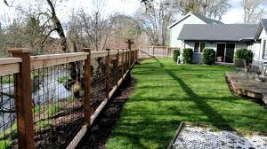 Cedar Black Bull Panel Fence Youtube