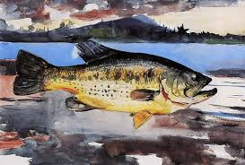 Winslow Homer Bass 18 X27 Wall Decal Rustic Wall Decals By Art Megamart