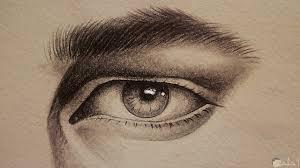 صور رسومات بالرصاص عيون جميلة إبداع فوق الوصف