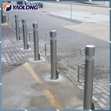 China Durable 800mm Tall Sidewalk Removable Post Stainless Steel Bollard Sleeve China Bollard Sleeve Car Stop Bollard