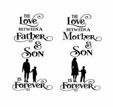 Mother Father Son Vinyl Decal For Wine Bottle Vases And More Ebay