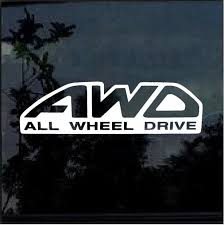Awd All Wheel Drive Subaru Sti Forester Wrx Window Decal Sticker Subaru Sti Wrx Car Decals Stickers