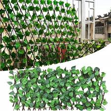 Simulation Wooden Garden Fence Decoration Privacy Wood With Artificial Green Leaf Retractable Extension Yard Fence Mesh Grille Fencing Trellis Gates Aliexpress