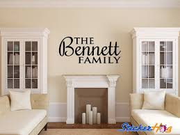 Personalized Family Name Wall Decals For Living And Family Room Vinyl Graphics Bedroom Home Decor