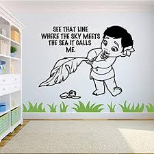 Amazon Com You Must Find Happiness Right Where You Are Vinyl Wall Art Sticker Decal Moana Disney Themed Wall Sticker For Girls Boy Kid Room Design Bedroom Nursery Kindergarten House Decoration Size 20x20