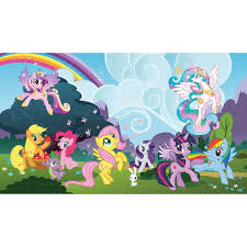 My Little Pony Ponyville Xl Wall Mural Us Wall Decor