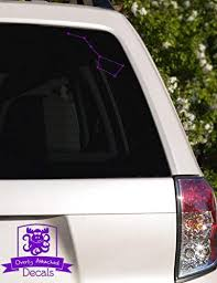 Amazon Com Overly Attached Decals Big Dipper Constellation Vinyl Car Decal 5 Purple Automotive