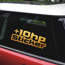 New 16 9 5 9cm High Quality 10 Hp Car Stickers And Decals Car Styling Car Decal Bumper Sticker Auto Waterproof Vinyl Sticker Car Stickers Aliexpress