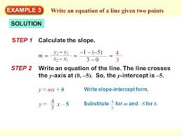 find equation of a line with two points