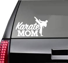 Karate Mom Car Decal Free Shipping Etsy