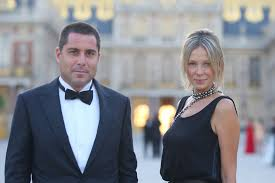 Riccardo Silva and wife Tatiana attending an event in Versailles ...