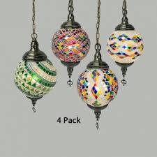 stained glass spherical ceiling lamp 1