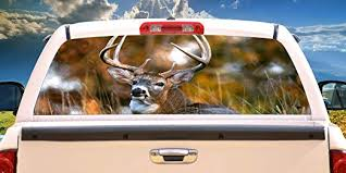 Amazon Com Signmission Deer 2 Rear Window Graphic Back Truck Decal Suv View Thru Vinyl Car Home Kitchen