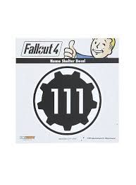 Fallout 4 Vault 111 Car Decal Fallout 4 Vaults Vault 111 Car Decals