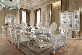 Traditional Dining Room Set 9 Pcs In Gray Wood Traditional Style Homey Design Hd 8088