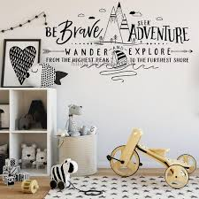 Mountains Quotes Wall Stickers Be Brave Seek Adventure Wander And Expl Home Decor