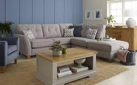 arrange the layout of a corner sofa