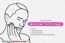 wisdom teeth pain best remes types