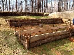 raised garden beds on a hill garten