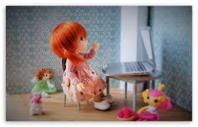 cute doll ultra hd desktop background