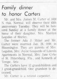 James and Ada Carter 45th Anniversary - Newspapers.com