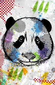 Amazon Com Panda Poster Modern Design Art Color Pop Art Poster Animal Print Bear Cute Decoration Kids Room Handmade