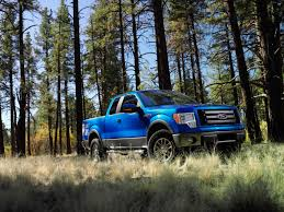 2009 ford f 150 blue front and side