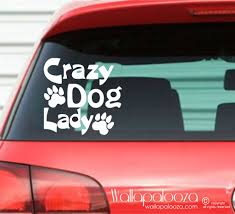 Automotive Decals Bumper Stickers Crazy Cat Lady Decal Car Pet Decal Crazy Pet Lady Vehicle Stickers Car Decal Crazy Dog Lady Decal Window Decal Car Sticker Kopa Or Kr