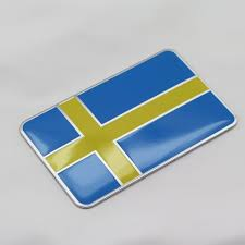 3d Sweden Flag Auto Car Fender Trunk Emblem Badge Sticker For Vovlo Saab Scania Geek