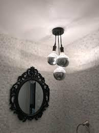 bathroom ceiling light semi flush 3 led