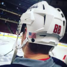 The Capitals Will Wear An American Flag Sticker On Their Helmets For Veteran S Day
