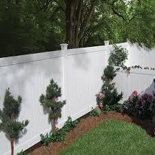 Shop Barrette Elite Stratford 6 Ft X 8 Ft White Flat Top Privacy Vinyl Fence Panel At Lowes Com Backyard Fences Modern Fence Brick Fence