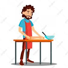 ا نسان خاص بالطبخ في المطبخ إلى داخل غطاء العربة المشمع رجل