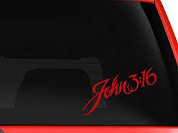 John 3 16 Bumper Sticker Window Laptop Car Truck Decal Vinyl Rainbowlands Lk