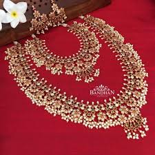 22 Guttapusalu Haram Designs That You Would Like To Grab on Sight! • South  India Jewels | Bridal jewelery, Pearl jewelry necklace, Indian wedding  jewelry