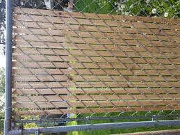 Pin By Candie Wageman On By The Yard Fence Slats Chain Link Fence Chain Link Fence Cover