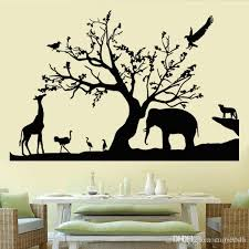 Black Safari Wall Decals Vinyl Self Adhesive Removable Forest Animals Nature Wall Sticker Murals For Living Room Home Decor Wall Decals For Home Decorating Wall Decals For Kids From Carrierxia 3 92 Dhgate Com
