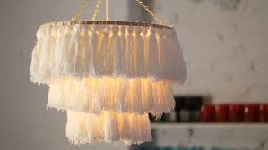 diy tassel chandelier cbc life