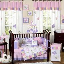 erfly pink and purple crib bedding