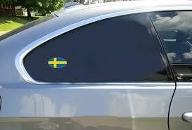 Swedish Flag Oval Sticker U S Custom Stickers