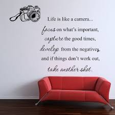 Life Is Like A Camera Wall Sticker Family Living Room Dining Quote Decal Vinyl Dining Quotes Wall Stickers Family Quote Decals