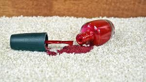 fingernail polish out of carpet