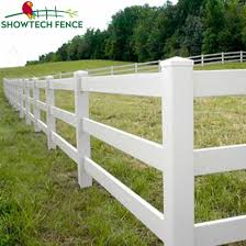 Uv Resistant 3 Rails White Pvc Vinyl Horse Fence China Pvc Fence Pvc Fence Supplier Made In China Com